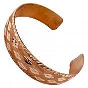 دستبند مس طرح پرنیان زنانه