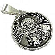 مدال نقره سیاه قلم طرح شمایل