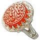 انگشتر نقره عقیق یمن حکاکی یا فارس الحجاز مردانه