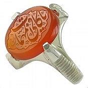 انگشتر نقره عقیق یمن حکاکی یا کافی المهمات مردانه