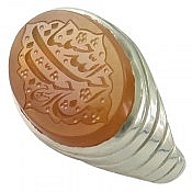 انگشتر نقره عقیق یمن حکاکی احب الله من احب حسینا مردانه