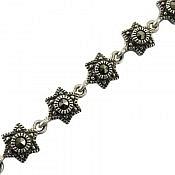 دستبند نقره طرح ستاره فاخر زنانه