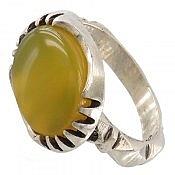 انگشتر نقره عقیق زرد طرح صفوی مردانه