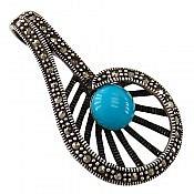 مدال نقره سیاه قلم طرح مانیا