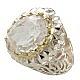 انگشتر نقره در نجف الماس تراش آینه کاری مردانه