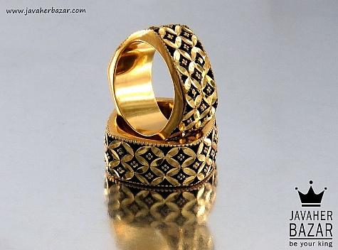 انگشتر نقره سیاه قلم طرح لوکس زنانه - 32433