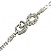 دستبند نقره طرح آیناز فاخر زنانه