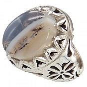 انگشتر نقره عقیق شجر سلطنتی مردانه