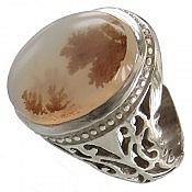 انگشتر نقره عقیق شجر شاهانه مردانه