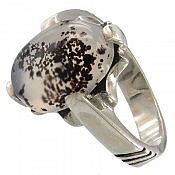 انگشتر نقره عقیق چهار چنگ مردانه