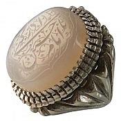 انگشتر نقره عقیق یمن حکاکی یا امام حسین ادرکنی مردانه