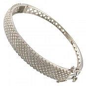 دستبند نقره شیک و ارزشمند زنانه