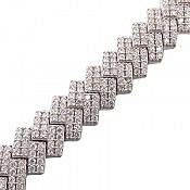 دستبند نقره طرح نازنین فاخر زنانه