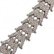 دستبند نقره طرح اشرافی زنانه