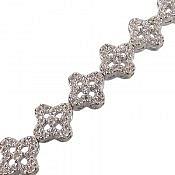 دستبند نقره طرح گل مرغوب زنانه