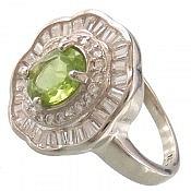 انگشتر نقره زبرجد زیبا زنانه