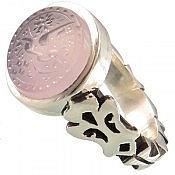 انگشتر نقره عقیق حکاکی یا رقیه مردانه