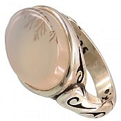انگشتر نقره عقیق شجر طرح صفوی مردانه