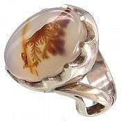 انگشتر نقره عقیق شجر درشت مردانه