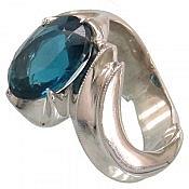 انگشتر نقره توپاز لندن سلطنتی مردانه