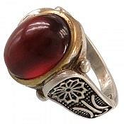 انگشتر نقره یاقوت گارنت سرخ سلطنتی مردانه