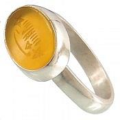 انگشتر نقره عقیق طرح صفوی شرف الشمس دست ساز
