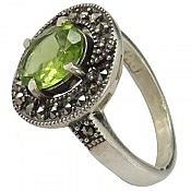 انگشتر نقره زبرجد خوش رنگ زنانه