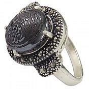 انگشتر نقره حدید هفت جلاله زنانه