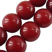 تسبیح 33 دانه کهربا پودری گرد قرمز