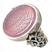 انگشتر نقره عقیق یمن مرغوب حکاکی و من یتق الله مردانه