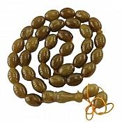 تسبیح 33 دانه کهربا پودری ارزشمند