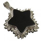 مدال نقره عقیق طرح ستاره