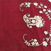 ترمه رومیزی چهار تکه عسلی خوش رنگ و خوش نقش