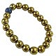 دستبند حدید و لاجورد طلایی زنانه
