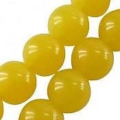 تسبیح 33 دانه کهربا پودری گرد زرد
