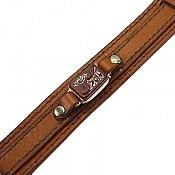 دستبند نقره چرم و عقیق حکاکی یا امام حسین ع مردانه
