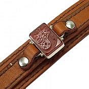دستبند عقیق و چرم حکاکی یا حسن غریب مدینه مردانه