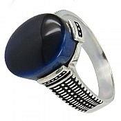 انگشتر نقره خوش رنگ مردانه