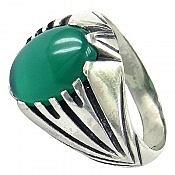 انگشتر نقره عقیق خوش رنگ مردانه