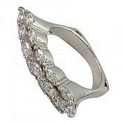 انگشتر نقره سولیتر طرح مهرناز زنانه