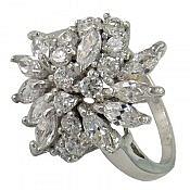 انگشتر نقره سولیتر زیبا و لوکس زنانه