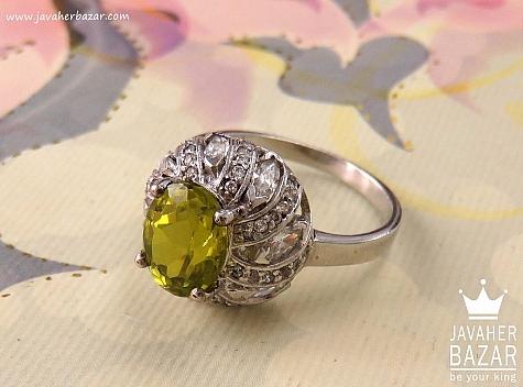 انگشتر نقره الکساندریت زولتنایت خوش رنگ زنانه