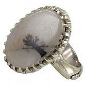 انگشتر نقره عقیق شجر خوش نقش و درشت مردانه