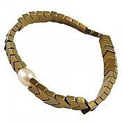 دستبند حدید و مروارید طرح سیما زنانه
