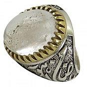 انگشتر نقره در نجف رکاب یا ضامن آهو مردانه