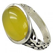 انگشتر نقره عقیق شرف الشمس طرح صفوی مردانه