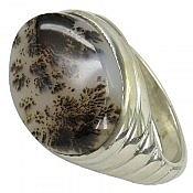 انگشتر نقره عقیق شجر خوش نقش طرح صفوی مردانه