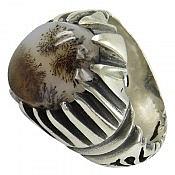 انگشتر نقره عقیق شجر طرح منظره مردانه