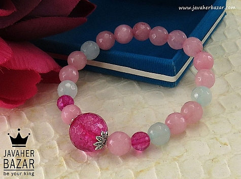 دستبند جید خوش رنگ زنانه - 34368