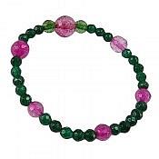 دستبند جید طرح شادی زنانه